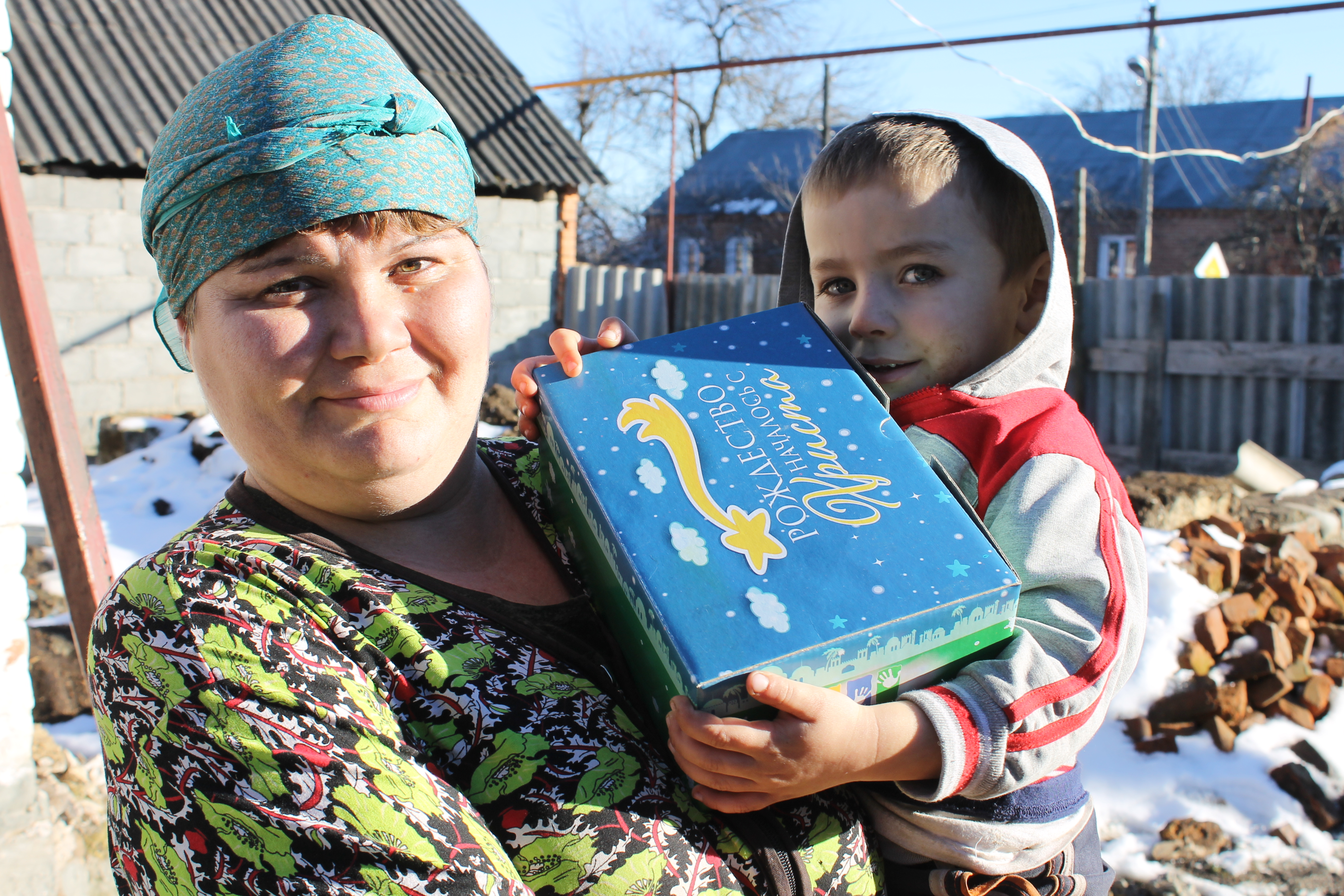 Mother and son from Russia with a Gift of Hope
