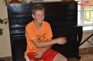 Young man at a summer Bible camp in Moldova