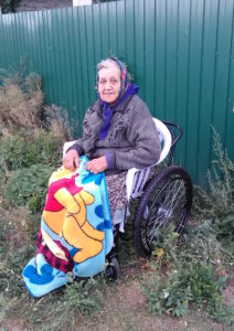 Svetlana, wheelchair recipient in Ukraine