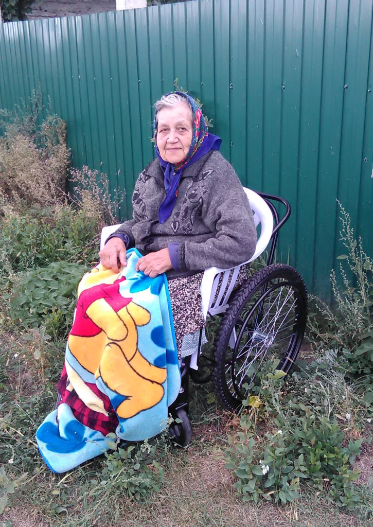 Svetlana, wheelchair recipient in Ukraine