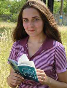 Irina, a young girl from Ukraine who came to faith at summer Bible camp