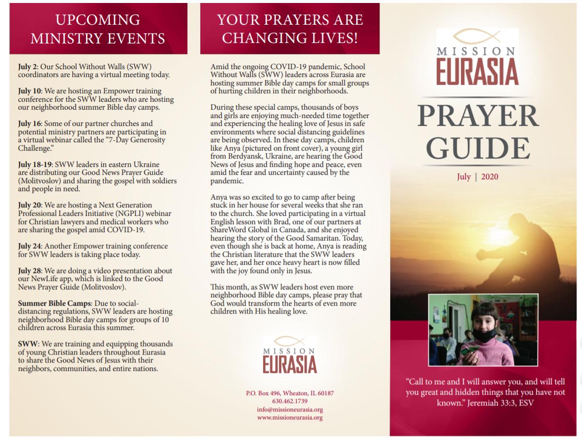 July 2020 Prayer Guide