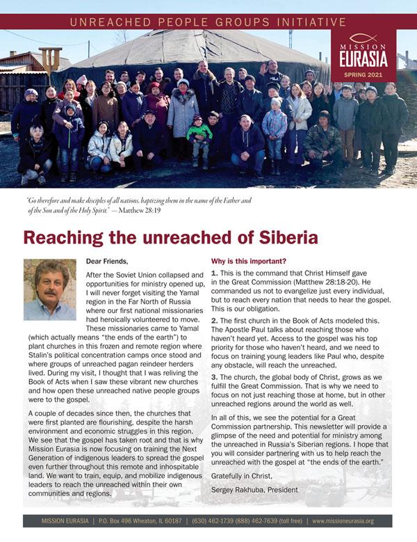 Mission Eurasia Spring 2021 Newsletter